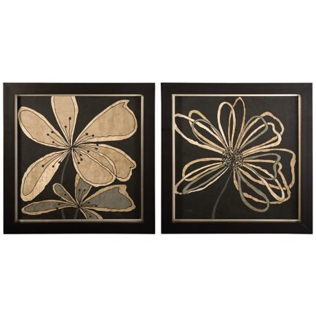 Uttermost Set of 2 Oxygen Flower Wall Art