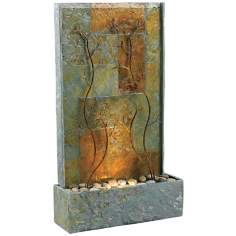 Kenroy Home Copper Vines Lighted Floor Fountain