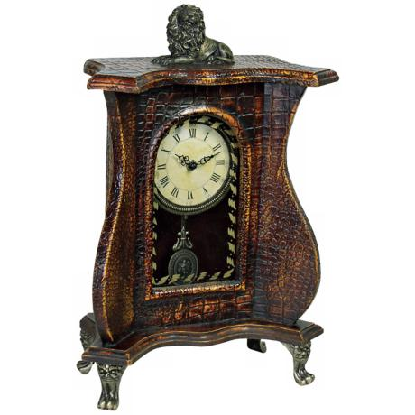 "Mock Croc Pendulum 18 1/2"" High Clock"
