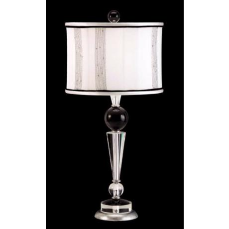 Schonbek Deco Black Accent Crystal Table Lamp
