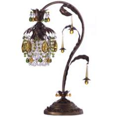 Schonbek Rondelle Etruscan Gold Finish Table Lamp