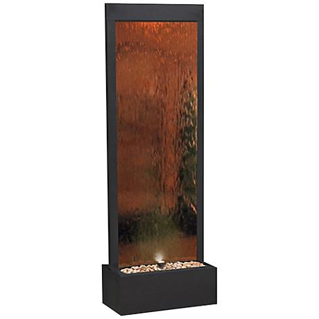 Modern Bronze Mirror Panel Fountain
