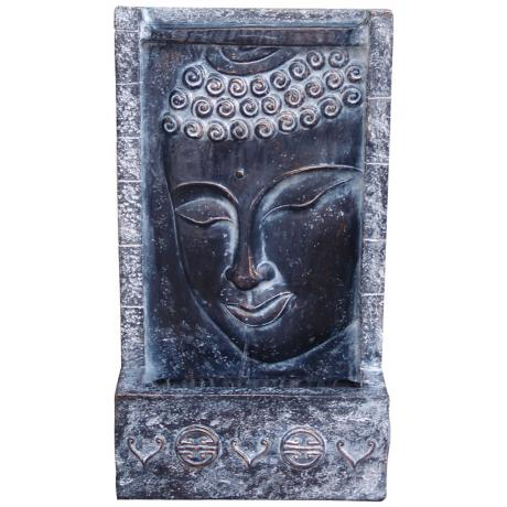 Buddha Face Lighted Wall Fountain