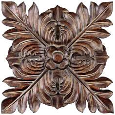 "Uttermost Four Leaves Decorative 34"" Wide Wall Plaque"