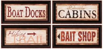 Rustic Antique Lodge Signs