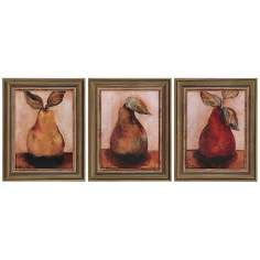 Set of 3 Pears Framed Wall Art