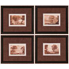 Set of 4 Landscapes Framed Wall Art