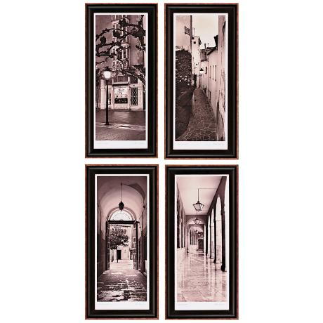 Set of 4 Espana Framed Wall Art