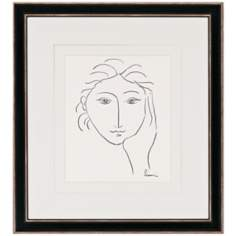 "Woman's Face Sketch II Print 33"" High Wall Art"