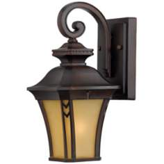 "Norfolk Collection Bronze 12 1/2"" High Outdoor Wall Light"