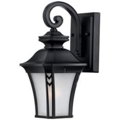 "Norfolk Collection Black 12 1/2"" High Outdoor Wall Light"