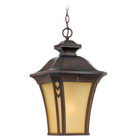 "Norfolk Collection Bronze 21"" High Outdoor Hanging Light"