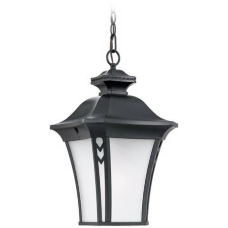 "Norfolk Collection Black 21"" High Outdoor Hanging Light"