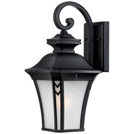 "Norfolk Collection Black 16 1/2"" High Outdoor Wall Light"