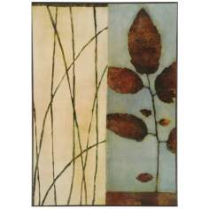 "Quiet Leaves Wrapped Canvas Print 26 1/2"" High Wall Art"