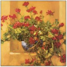 "Ivy Geraniums Print 23"" Square Wall Art"