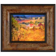"Vineyard Hill Print 10"" High Wall Art"