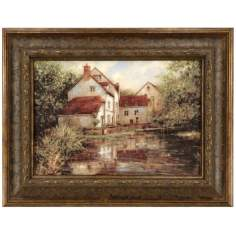"House By the Lake Print 26 3/4"" Wide Wall Art"