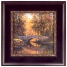 "Tranquil Crossing Print 12"" Square Wall Art"