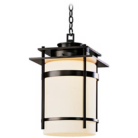 "Hubbardton Forge Banded 22"" High Outdoor Hanging Light"