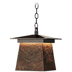 Hubbardton Forge Lightfall Large Iron Ore CFL Ceiling Light