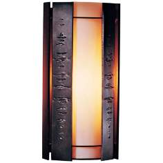"Hubbardton Forge Textured Panels 15"" High Outdoor Wall Light"