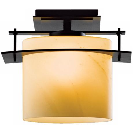 Hubbardton Forge Arc Ellipse CFL Black Outdoor Ceiling Light