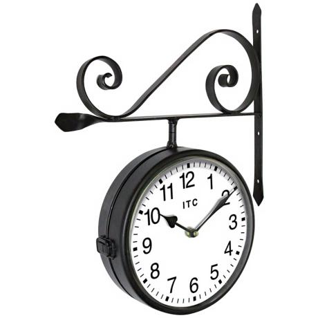 "Double-Sided Black 22"" High Wall Clock"