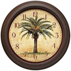 "The Cabana 12"" Wide Wall Clock"