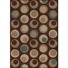 Stacked Pebbles Chocolate Area Rug