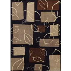 Fall Impression Black Area Rug