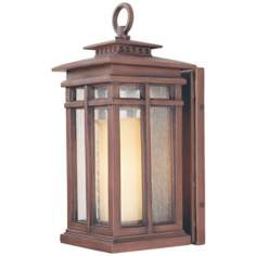 "Cottage Grove Collection 15 1/4"" High Outdoor Wall Light"