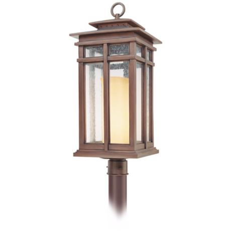 "Cottage Grove Collection 29"" High Outdoor Post Light"