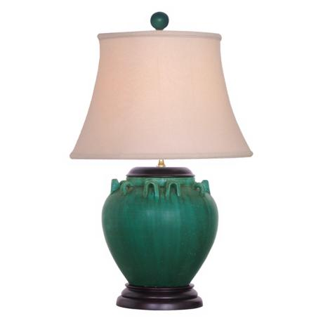 Green Porcelain Table Lamp