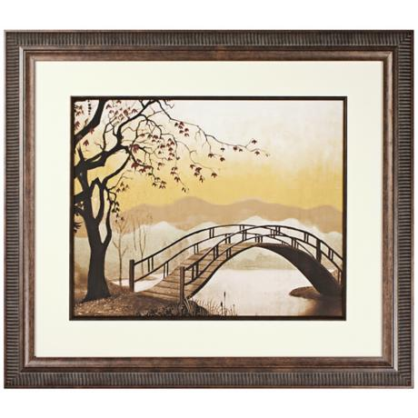 Walt Disney Lady and the Tramp Bridge Print Framed Wall Art