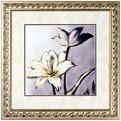 "Walt Disney Fantasia Lilies Print Framed 22"" Square Wall Art"