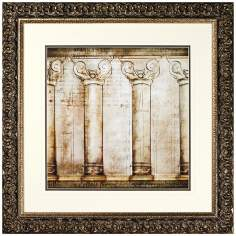 Walt Disney Beauty and The Beast Columns Framed Wall Art