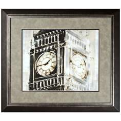 "Walt Disney Peter Pan Big Ben Print Framed 31"" Wide Wall Art"
