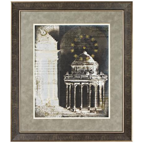 "Walt Disney Fantasia Grecian Temple Framed 30"" High Wall Art"
