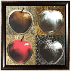 "Walt Disney Snow White Apple Framed 20 1/2"" Square Wall Art"
