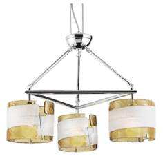 "Fluid Collection Yellow and White Glass 29"" Wide Chandelier"
