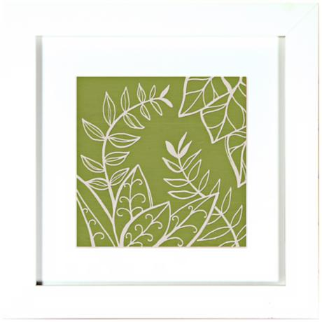 Walt Disney Alice in Wonderland Green Leaves Framed Wall Art