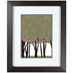 "Walt Disney Sleeping Beauty Trees 2 Framed 24"" High Wall Art"