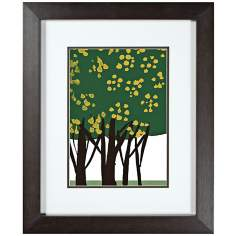 "Walt Disney Sleeping Beauty Trees 3 Framed 24"" High Wall Art"