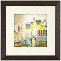 "Walt Disney Peter Pan Rooftops II Print 19"" Square Wall Art"