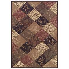 Natural Balance Brown Multi Area Rug