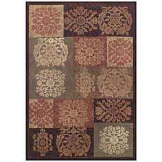 Floral Seals Sable Area Rug
