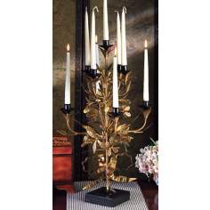 Brass Finish Topiary Candleholder