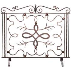Bronze Verde Finish Iron Fire Screen