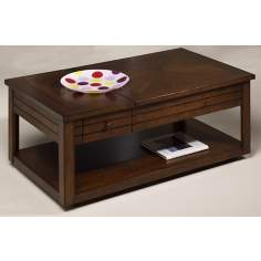 Cherry Lift-Top Storage Cocktail Table